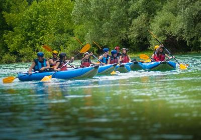 Rafting am Fluss Una