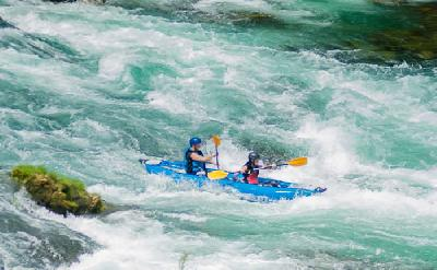 Rafting am Fluss Una